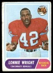 1968 Topps #174  Lonnie Wright  Front Thumbnail