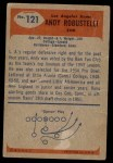1955 Bowman #121  Andy Robustelli  Back Thumbnail