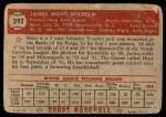 1952 Topps #392  Hoyt Wilhelm  Back Thumbnail