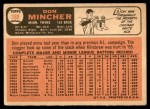 1966 Topps #388  Don Mincher  Back Thumbnail