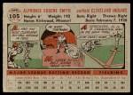1956 Topps #105 GRY Al Smith  Back Thumbnail