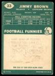 1960 Topps #23  Jim Brown  Back Thumbnail