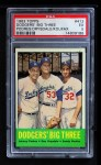1963 Topps #412   -  Sandy Koufax / Don Drysdale / Johnny Podres Dodgers' Big 3 Front Thumbnail