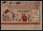 1958 Topps #426  Johnny O'Brien  Back Thumbnail