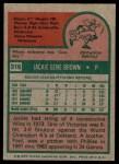1975 Topps #316  Jackie Brown  Back Thumbnail