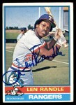 1976 Topps #31  Len Randle  Front Thumbnail