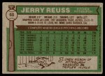 1976 Topps #60  Jerry Reuss  Back Thumbnail