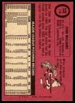 1969 O-Pee-Chee #118  Stan Williams  Back Thumbnail