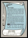 1989 Pacific Legends #178  Roy Face  Back Thumbnail