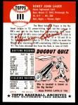 1953 Topps Archives #111  Hank Sauer  Back Thumbnail