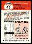 1991 Topps 1953 Archives #43  Gil McDougald  Back Thumbnail