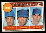 1969 Topps #602 *xVIS*  -  Alec Distaso / Don Young / Jim Qualls  Cubs Rookies Front Thumbnail