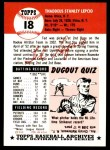 1953 Topps Archives #18  Ted Lepcio  Back Thumbnail