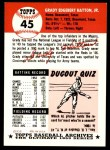 1991 Topps 1953 Archives #45  Grady Hatton  Back Thumbnail