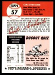 1953 Topps Archives #57  Carl Scheib  Back Thumbnail