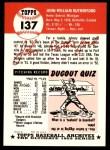 1953 Topps Archives #137  John Rutherford  Back Thumbnail
