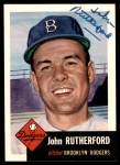 1953 Topps Archives #137  John Rutherford  Front Thumbnail