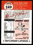 1953 Topps Archives #249  Eddie O'Brien  Back Thumbnail