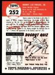 1953 Topps Archives #252  Hank Foiles  Back Thumbnail