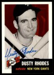 1953 Topps Archives #299  Dusty Rhodes  Front Thumbnail