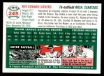 1954 Topps Archives #245  Roy Sievers  Back Thumbnail