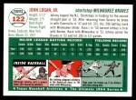 1954 Topps Archives #122  Johnny Logan  Back Thumbnail