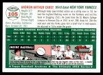 1954 Topps Archives #105  Andy Carey  Back Thumbnail