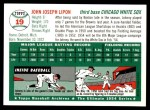 1994 Topps 1954 Archives #19  Johnny Lipon  Back Thumbnail