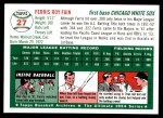 1994 Topps 1954 Archives #27  Ferris Fain  Back Thumbnail