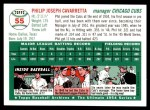 1994 Topps 1954 Archives #55  Phil Cavarretta  Back Thumbnail
