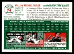 1954 Topps Archives #74  Bill Taylor  Back Thumbnail