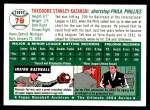 1994 Topps 1954 Archives #78  Ted Kazanski  Back Thumbnail