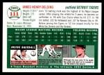 1954 Topps Archives #111  Jim Delsing  Back Thumbnail