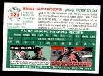 1954 Topps Archives #221  Dick Brodowski  Back Thumbnail