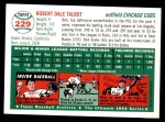 1954 Topps Archives #229  Bob Talbot  Back Thumbnail