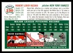 1954 Topps Archives #230  Bob Kuzava  Back Thumbnail