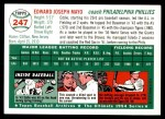 1954 Topps Archives #247  Eddie Mayo  Back Thumbnail