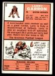 1966 Topps #6  Larry Garron  Back Thumbnail