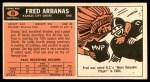 1965 Topps #89  Fred Arbanas  Back Thumbnail