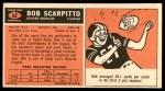 1965 Topps #62  Bob Scarpitto  Back Thumbnail