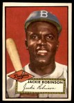 1952 Topps #312  Jackie Robinson  Front Thumbnail