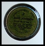 1971 Topps Coins #2  Davey Johnson  Back Thumbnail