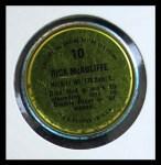 1971 Topps Coins #10  Dick McAuliffe  Back Thumbnail
