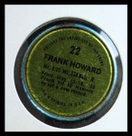 1971 Topps Coins #22  Frank Howard  Back Thumbnail