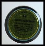1971 Topps Coins #19  John Bateman  Back Thumbnail