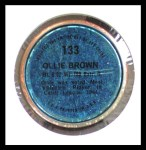 1971 Topps Coins #133  Ollie Brown  Back Thumbnail
