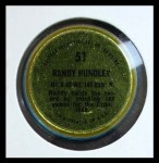 1971 Topps Coins #51  Randy Hundley  Back Thumbnail