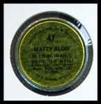 1971 Topps Coins #47  Matty Alou  Back Thumbnail