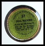 1971 Topps Coins #37  Phil Niekro  Back Thumbnail