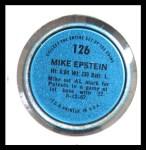 1971 Topps Coins #126  Mike Epstein  Back Thumbnail